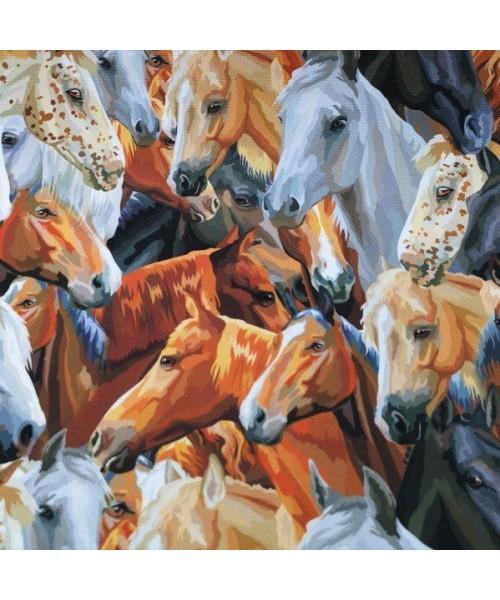 Atlar Dijital Baskı Kumaş